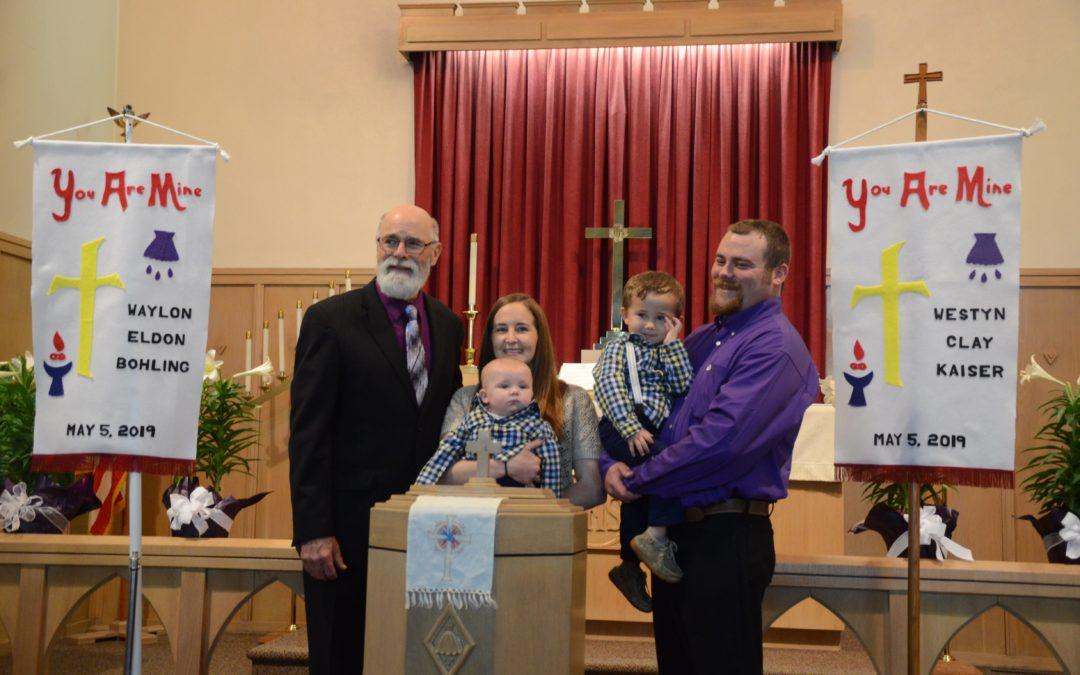Westyn Clay Kaiser and Waylon Eldon Bohling – Baptisms