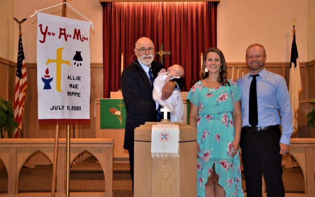 Allie Mae Rippe – Baptism